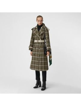 Reversible Tropical Gabardine And Check Trench Coat by Burberry