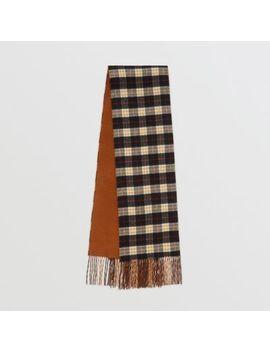 Colour Block Vintage Check Cashmere Scarf by Burberry