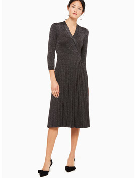 Metallic Wrap Sweater Dress by Kate Spade