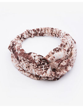 Snake Print Knotted Headband by Le Chateau