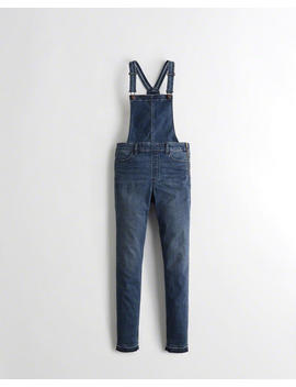 Classic Stretch High Rise Super Skinny Overalls by Hollister