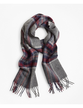 Grey Plaid Scarf by Brooks Brothers