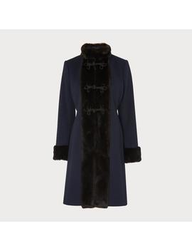 Perris Navy Coat by L.K.Bennett