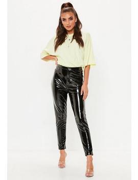 Pantalon Skinny Noir En Vinyle by Missguided