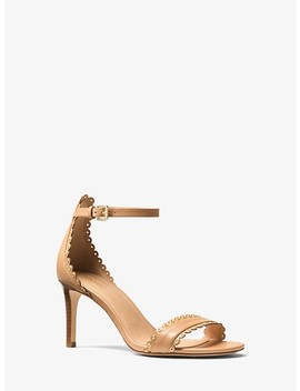 Jessie Leather Sandal by Michael Michael Kors