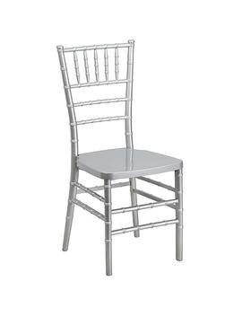 Flash Furniture Flash Elegance Resin Stacking Chiavari Chair, Silver, 10/Pack by Flash Furniture