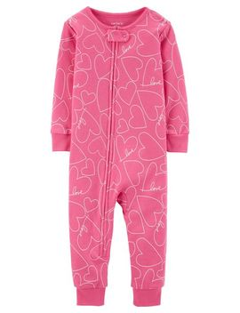 1 Piece Hearts Snug Fit Cotton Footless P Js by Carter's