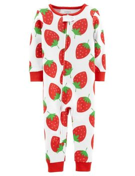 1 Piece Strawberry Snug Fit Cotton Footless P Js by Carter's