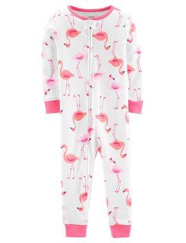 1 Piece Flamingo Snug Fit Cotton Footless P Js by Carter's