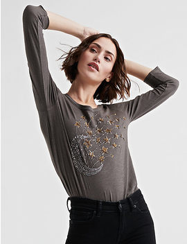 Stars And Moon Beaded Tee by Lucky Brand