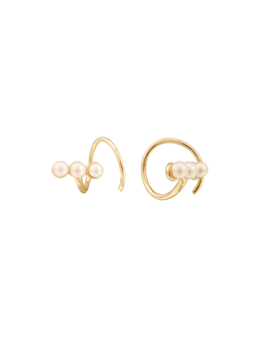 Pearl Spiral Earrings   $140 by Mejuri