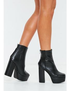 Boots à Plateformes Noires by Missguided