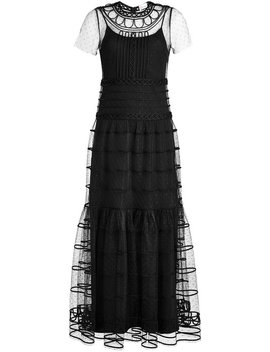 Embroidered Lace Maxi Dress by Red Valentino