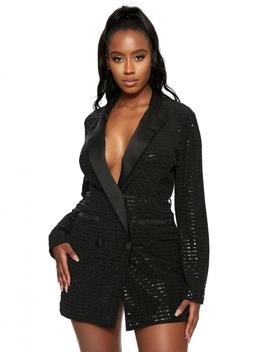The Sequined Blazer Dress by Naked Wardrobe