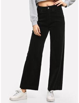 Corduroy Wide Leg Pants by Sheinside