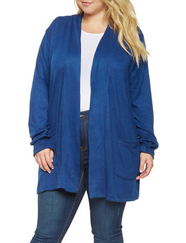 Plus Size Brushed Knit Cardigan by Rainbow