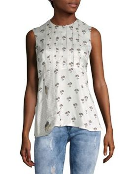 Daisy Print Sleeveless Top by Victoria Beckham
