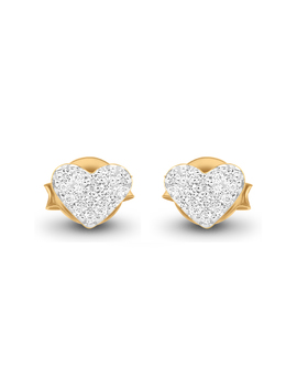 Gold Pave Double The Love Studs by Missoma