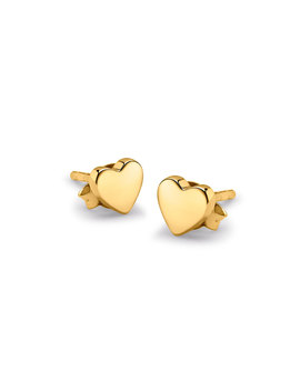 Gold Double The Love Studs by Missoma