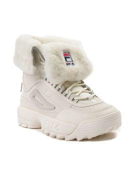 Womens Fila Disruptor Shearling Athletic Shoe by Read Reviews