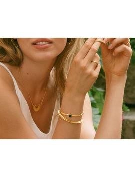 Gold Rhea Malachite Cage Cuff by Missoma