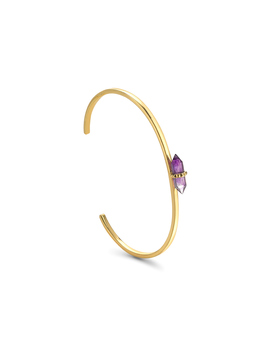 Amethyst Double Wand Cuff by Missoma