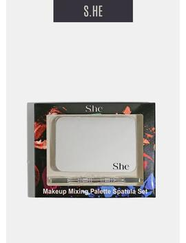 Makeup Artist Steel Palette And Spatula by S.He
