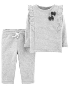 2 Piece Bow Top & Pant Set by Carter's