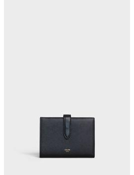 Medium Strap Wallet In Grained Calfskin by Celine