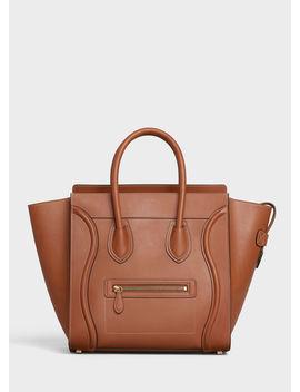Mini Luggage Handbag In Natural Calfskin by Celine