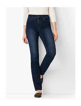 High Rise Straight Leg Jeans   Marco Wash by Talbots