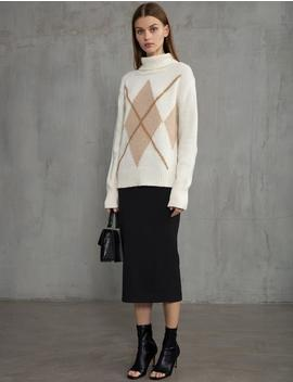 Argyle Ivory Sweater by Pixie Market