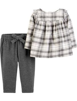 2 Piece Plaid Flannel Top & Pant Set by Carter's