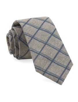 Brushed Cotton Jet Plaid Tie by The Tie Bar