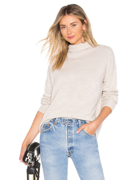 Relaxed Mock Neck Sweater by Autumn Cashmere