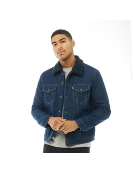 Levi's Mens Sherpa Trucker Jacket Indigo Sheep by Levi's