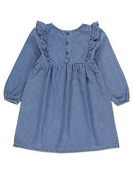 Blue Denim Ruffled Dress by Asda
