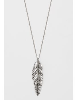 Hinged Feather Pendant Necklace by Maurices