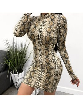 Nadia Long Sleeve Snake Dress by Laura's Boutique