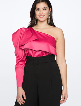 Draped One Shoulder Top by Eloquii