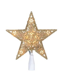 Canvas Pre Lit Sequin Star Tree Topper, Assorted by Canadian Tire