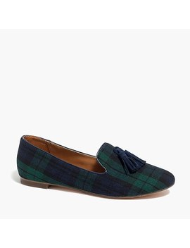 Cora Loafers In Plaid With Tassels by J.Crew