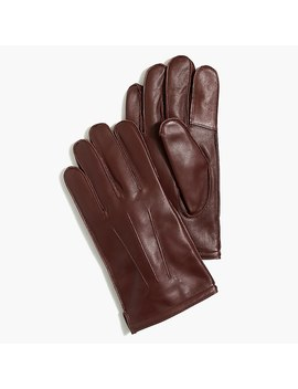 Flannel Lined Leathersmartphone Gloves by J.Crew