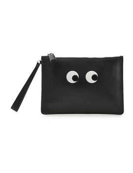 Eyes Leather Pouch by Anya Hindmarch