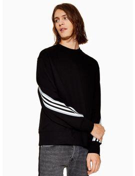 Black And Grey Taping Sweatshirt by Topman