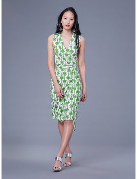 Sleeveless Yahzi Silk Jersey Wrap Dress&Nbsp; by Dvf