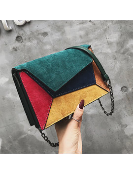 Women Faux Leather Stitching Color Crossbody Bag Shoulder Bag by Newchic