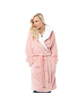 Onfire Womens Sealskin Hooded Robe Pink by Onfire
