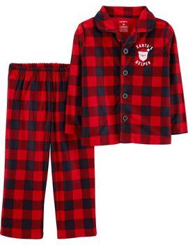 2 Piece Kid Christmas Lightweight Fleece P Js by Carter's