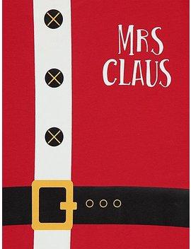 Red Mrs. Claus Matching Christmas Pyjamas by Asda